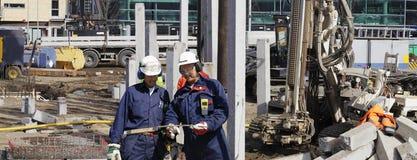 De ingenieurs van de bouw en zware machines Royalty-vrije Stock Fotografie