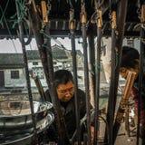 De ingezetenen in het zuiden van de Yangtze-Rivier treffen voor het de Lentefestival voorbereidingen royalty-vrije stock afbeeldingen