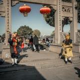 De ingezetenen in het zuiden van de Yangtze-Rivier treffen voor het de Lentefestival voorbereidingen stock foto