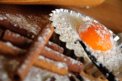 De ingrediënten en de werktuigen van het baksel Royalty-vrije Stock Foto