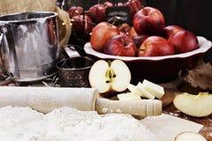 De ingrediënten van de appeltaart Royalty-vrije Stock Foto