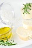 De ingrediënten van Bruscetta stock foto's