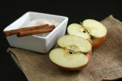 De Ingrediënten van de appeltaart Royalty-vrije Stock Foto's