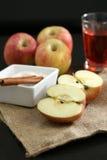 De Ingrediënten van de appeltaart Stock Fotografie