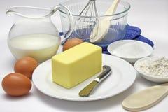 De Ingrediënten van de cake royalty-vrije stock afbeelding