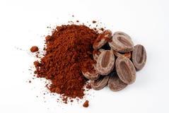 De ingrediënten van de chocolade stock afbeelding