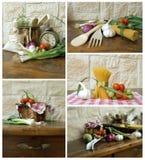 De ingrediënten van de collage Stock Fotografie