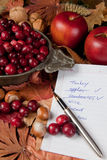 De ingrediënten van de dankzegging Stock Afbeelding