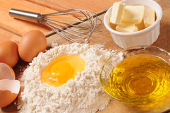 De ingrediënten van de korst. Stock Fotografie