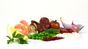 De ingrediënten van de paella Royalty-vrije Stock Afbeelding
