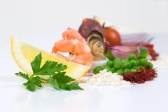 De ingrediënten van de paella Royalty-vrije Stock Fotografie