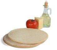 De ingrediënten van de pizza stock afbeelding