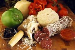De Ingrediënten van de pizza Royalty-vrije Stock Foto