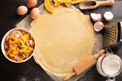 De ingrediënten van de pompoenpastei Royalty-vrije Stock Fotografie