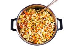 De ingrediënten van de salade royalty-vrije stock afbeelding
