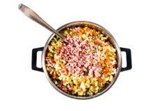 De ingrediënten van de salade stock afbeeldingen