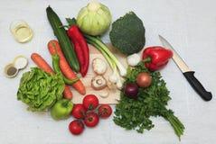 De ingrediënten van de salade Stock Foto
