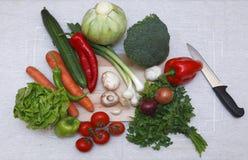 De ingrediënten van de salade Stock Afbeelding