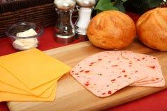 De Ingrediënten van de sandwich Royalty-vrije Stock Foto