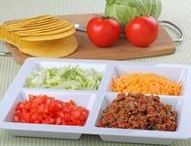 De Ingrediënten van de taco stock foto