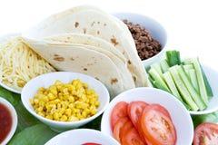 De Ingrediënten van de taco royalty-vrije stock afbeeldingen