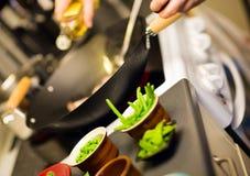 De ingrediënten van de wok Stock Fotografie
