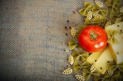 De ingrediënten van deegwaren Royalty-vrije Stock Foto's