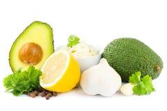 De ingrediënten van Guacamole Stock Afbeelding
