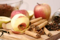 De ingrediënten van het baksel Stock Foto