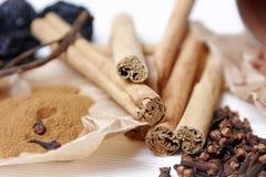 De ingrediënten van het baksel Stock Foto's