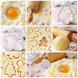 De ingrediënten van het baksel stock afbeelding
