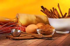 De ingrediënten van het baksel Royalty-vrije Stock Fotografie