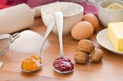 De ingrediënten van het baksel Royalty-vrije Stock Foto's