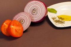 De Ingrediënten van het voedsel stock afbeelding