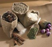 De Ingrediënten van het voedsel Stock Fotografie