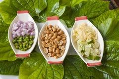 De ingrediënten van het voedsel Stock Afbeeldingen