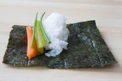 De Ingrediënten van sushi Stock Foto