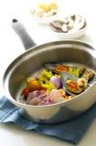 De ingrediënten van zeevruchten Stock Afbeeldingen