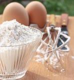 De ingrediënten voor bakken Stock Afbeelding