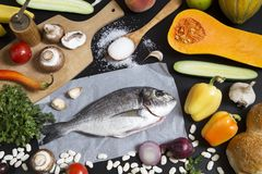 De ingredi?nten van het voedsel royalty-vrije stock foto