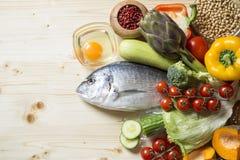 De ingredi?nten van het voedsel royalty-vrije stock afbeelding