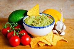 De ingrediënten van Guacamole Royalty-vrije Stock Afbeeldingen