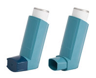 De Inhaleertoestellen van het astma Royalty-vrije Stock Foto's