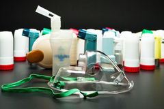 De inhaleertoestellen van het astma Stock Fotografie