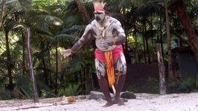 De inheemse cultuur toont in Queensland Australië stock videobeelden