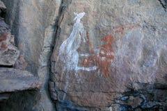 De inheemse Kunst van de Rots - Australië stock afbeelding