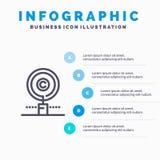 De inhoud, Copyright, vindt, Eigenaar, het pictogram van de Bezitslijn met infographicsachtergrond van de 5 stappenpresentatie vector illustratie