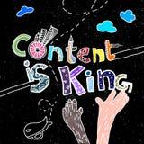 De inhoud is koning royalty-vrije illustratie