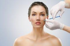 De injectie van Botox stock foto
