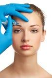De injectie van Botox Royalty-vrije Stock Afbeeldingen
